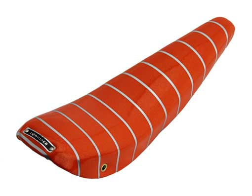 Medium BANANA SEAT Deluxe SPARKLE Orange