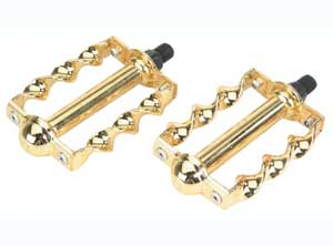 "TWISTED PEDAL 1/2"" W/LOGO GOLD"