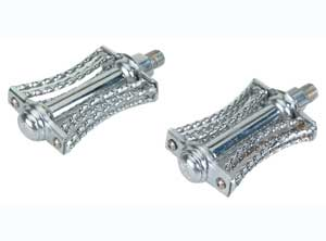 "DOUBLE SQUARE TWISTED BUTTERFLY PEDAL 1/2"" CHROME"