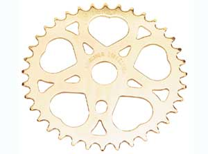 SWEET HEART SPROCKET 36T GOLD - Click Image to Close