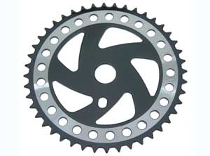 SPROCKET CW358 44T CHROME/BLACK