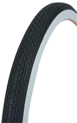 "TIRE 20"" X 1.75"" BLACK/WHITE 120A"