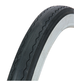 "TIRE 20"" X 2.125"" BLACK/WHITE SLICK 2 TREAD"
