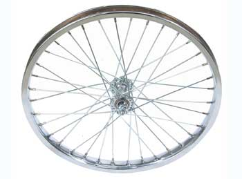 "20"" X 1.75"" STEEL COASTER WHEEL 105G CHROME"